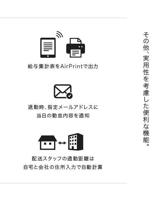 配送スタッフ勤怠管理システム BlueMeter(ブルーメーター) 特徴5